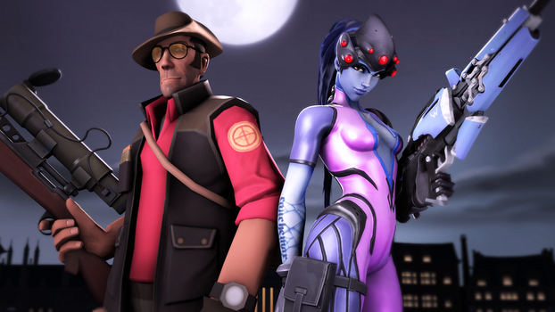 The Sniper and Widowmaker by iKonakona