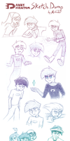Danny Phantom Sketch Dump by Mirrade