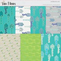 Arrow Patterns and Digital Paper by SunnyFunLane