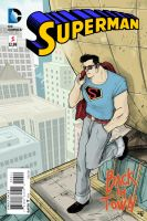 Rockabilly Superman fake Cover by DenisM79