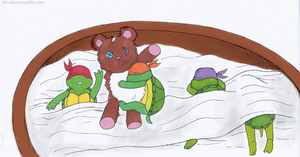 turtle nap by GoreChick