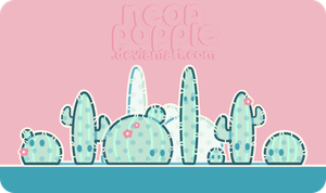 Cactus buds by neonpoppie