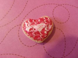 Red heart Cookie by Hearts-at-Sea