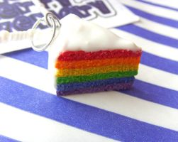 Rainbow Layer Cake Necklace 3 by tyney123