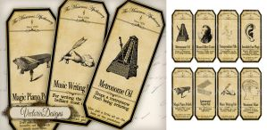 Printable Musicians Apothecary Labels by VectoriaDesigns