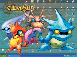 Golden Sun Desktop by Salem-the-Psychic