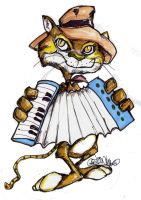 Zydeco Cat by sketchoo