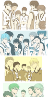 Kuroko no Basuke - as a Team by Annciel
