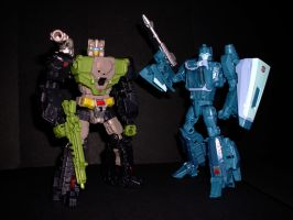 Transformers - Hardhead and Blurr by CyberDrone2-0