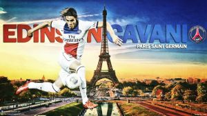 Edinson Cavani PSG Wallpaper by jafarjeef