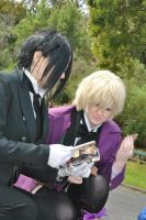 Sebastian and Alois reading yaoi by AniCosOfficial