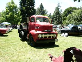 Big Red Ford Dump Truck by RoadTripDog