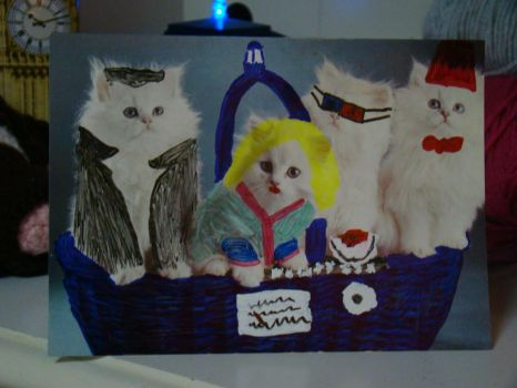 Doctor Who Kitten Card by Hmax17