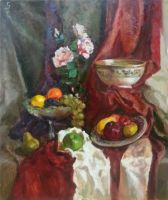 Still life with fruits and bowl by ShastinaHell-N