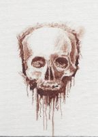 Skull in Human Blood by Zemie