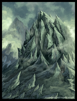 Mountainous Fantasy Terrain by ZacharyMcLean