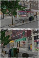 Street - Johnny's Diner Outside - Dead Or Alive 5 by JhonyHebert