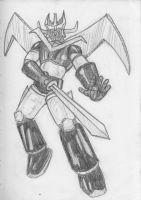 Daily Sketch Challenge - Great Mazinger by crittercat