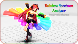 MMD Functional Prop: Rainbow Spectrum Analyzer by Stella-Hagane