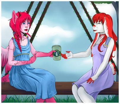 Ceruleanruby[trade] Venus and BV Vday date by seasaidh