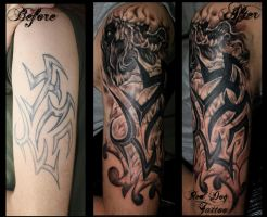 Tribal Cover by Reddogtattoo