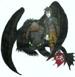 Hiccup and Toothless by InkArtWriter