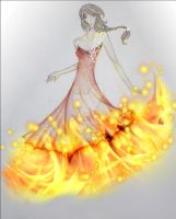 The girl on fire by Soh-chan