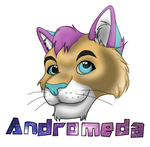 Andromeda Fursuit Badge by Lufca
