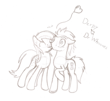 Derpy Kiss Dr Hooves by ArdonSword