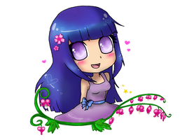 Hinata with Heart flowers by TropicalSnowflake