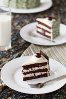 Black Forrest gateau slice by kupenska