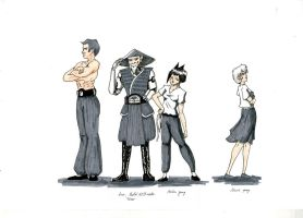 Character Designs - Home Town by Firia