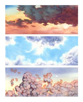 Cloud studies by oxpecker