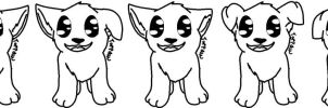Free To Use Chibi Puppy Linearts by Toppaw