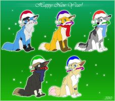 Happy New Year for canines by Seanica