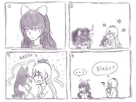 Monochrome: Blake is jealous... by pockynuko12000