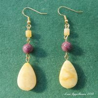 LSU Earrings No. 2 by Cillana