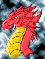 Red dragon by mordekayrigby