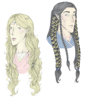 Finduilas and Fingon- Designs by avi17
