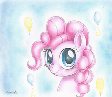 Pinkie Pie Portrait by Evomanaphy
