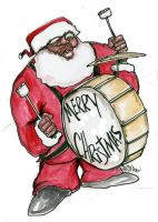 Santa drum by sketchoo