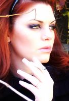 Smoking Red Head by GavinFFT