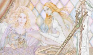 Celebrian and Galadriel by marisoly