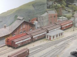 HO Scale PRR Merchandise Service Boxcars by rlkitterman