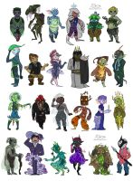 Character Design Challenge (all) by 10yrsy