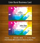 Color Burst Business Card by Raincutter