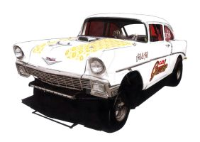 Gas Guzzler Gasser by monkipigcat