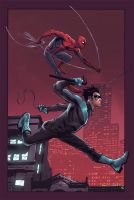 Spiderman nightwing by Eddy-Swan