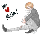 Alfred doodle for Mela by iSae-kun