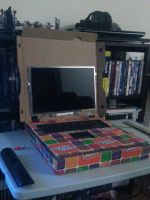 Laptop W/ Pizza Box Case by ZaeLynn